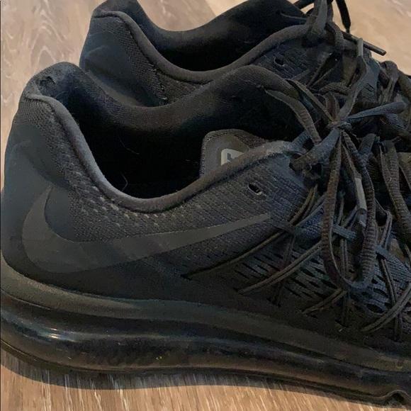 Nike Air Max 2015 triple black size 10.5 used